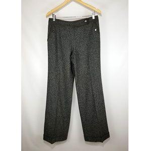 Tory Burch Wide Leg Wool Blend Trouser Pants